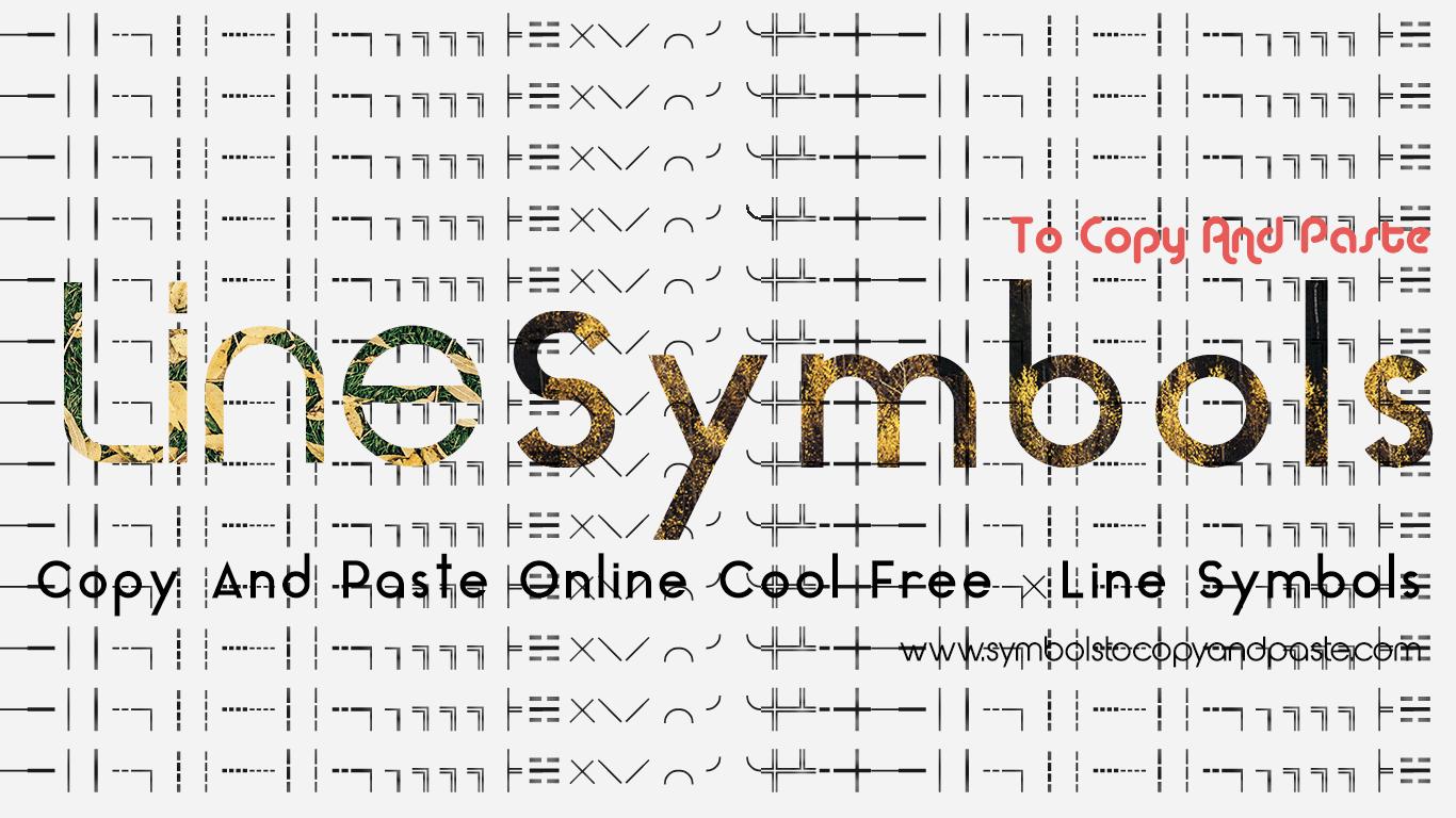 Line Symbols - Copy & Paste Online Free Line Symbols