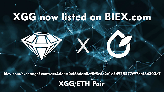 XGG Listed on BIEX.com