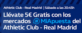 william hill promocion Athletic vs Real Madrid 15 septiembre