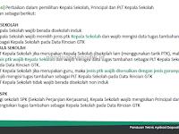 Aturan Pengisian Data Kepala Sekolah, PLT dan Kepala SPK di Dapodik
