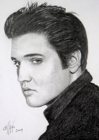Elvis Presley realizado por el español Juan Carlos Moreno Collado
