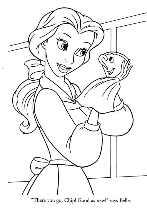coloring pages to print disney princess | Disney Princesses Belle Coloring Pages >> Disney Coloring ...