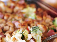 HAM BROCCOLI & CAULIFLOWER CASSEROLE