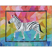 Foundation Paper Pieced Zebra Quilt Pattern