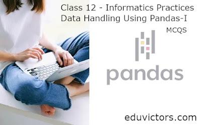 Class 12 - Informatics Practices - Data Handling Using Pandas-I (MCQs)(#class12Informatics)(#cbseTerm1)(#Class12IPMCQs)(#eduvictors)
