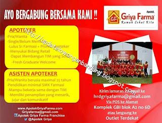 Lowongan Kerja Apotek Griya Farma Bandung 2019