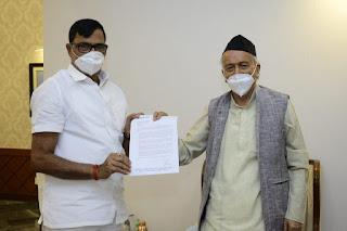 महाराष्ट्र के राज्यपाल से मिले कृपाशंकर सिंह | #NayaSaberaNetwork