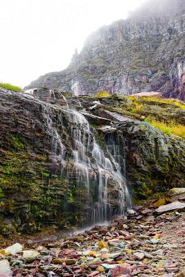 Waterfall along Hidden Lake Trail, Glacier National Park