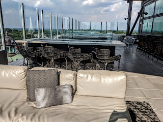 seating at rooftop bar