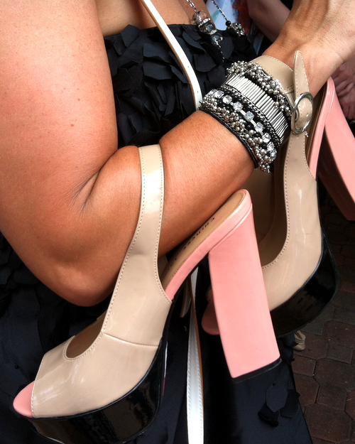 Killer shoes at the Kentucky Derby ♥ KitchenParade.com