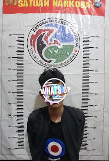 Satnarkoba Polres Pelabuhan Makassar Ciduk Pelaku Narkoba di Barukang