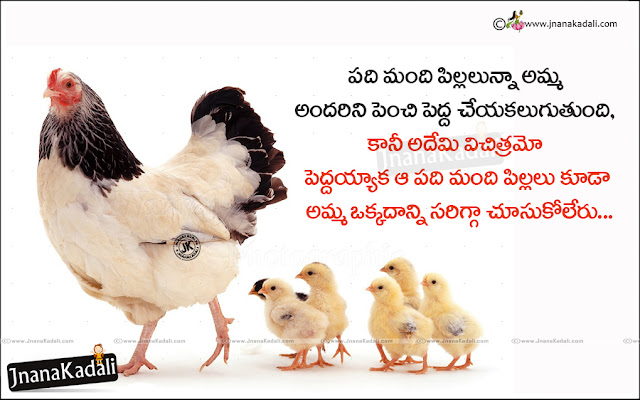 amma kavithalu in Telugu, Telugu mother value messages, best Good thoughts about amma
