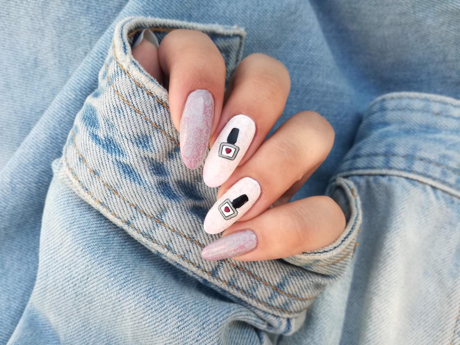 paznokcie termiczne białe