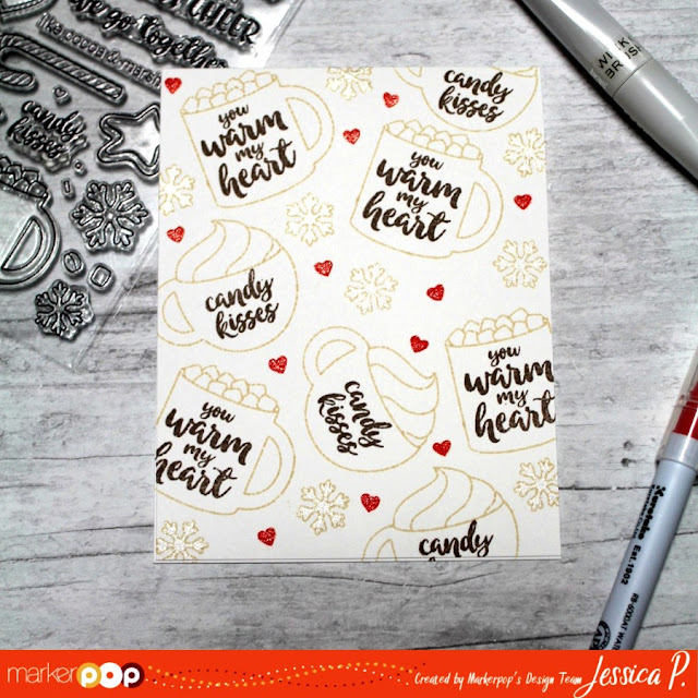 Sunny Studio Stamps: Mug Hugs Card by Jessica Pascarella (created for MarkerPop Blog)