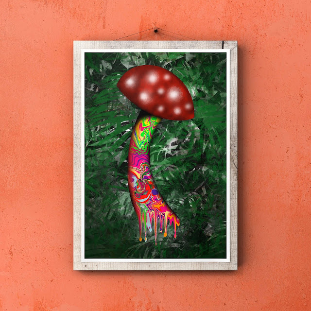 trippy mushroom art by Mark Taylor
