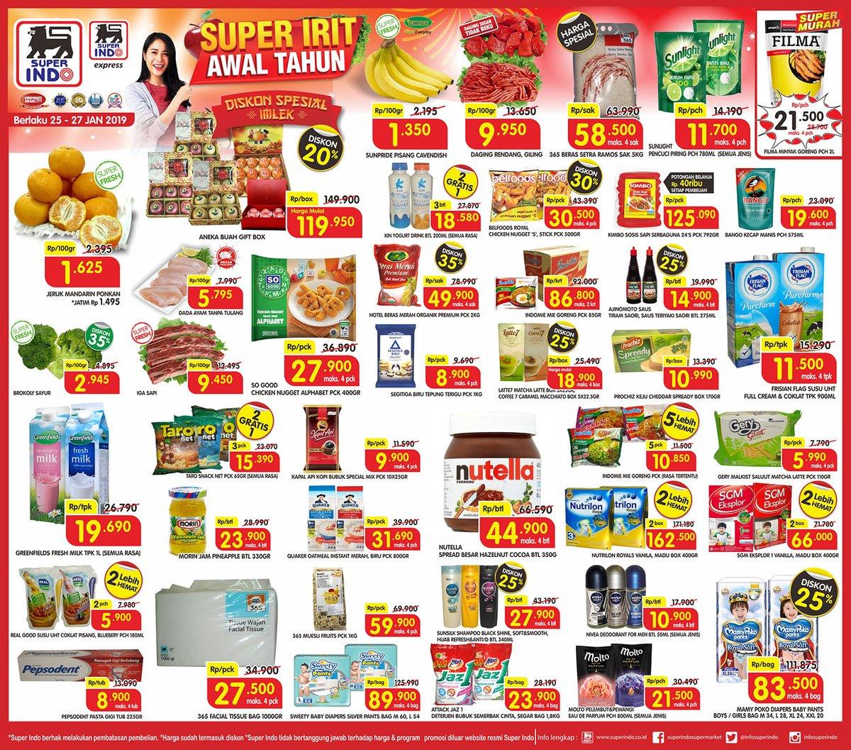 #Superindo - #Promo #Katalog Super Irit Awal Tahun Periode 25 - 27 Januari 2019