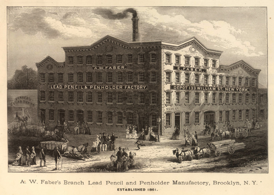 Faber-Castell factory in New York 1861