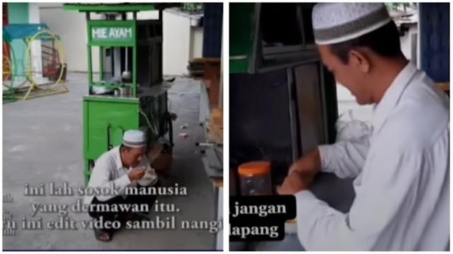 Viral Kisah Seorang Penjual Mie Ayam yang Rajin Bersedekah