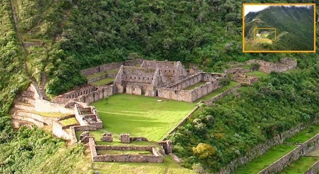 Las ruinas de Choquequirao en Perú