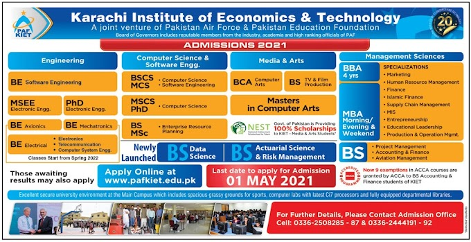 Latest Admissions Open 5th April 2021