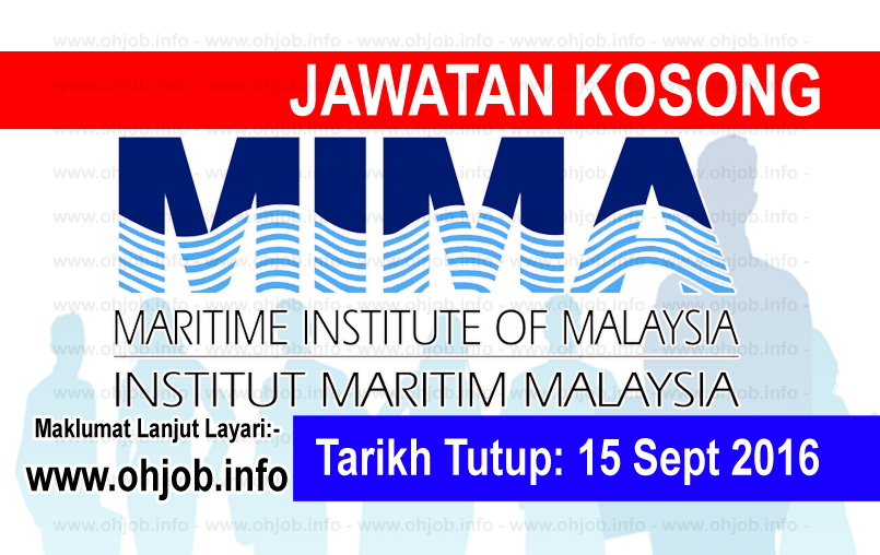 Jawatan Kerja Kosong Institut Maritim Malaysia (MIMA) logo www.ohjob.info september 2016
