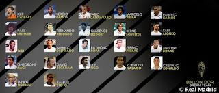 Esta es la lista de madridistas nominados al Balon de Oro Dream Team