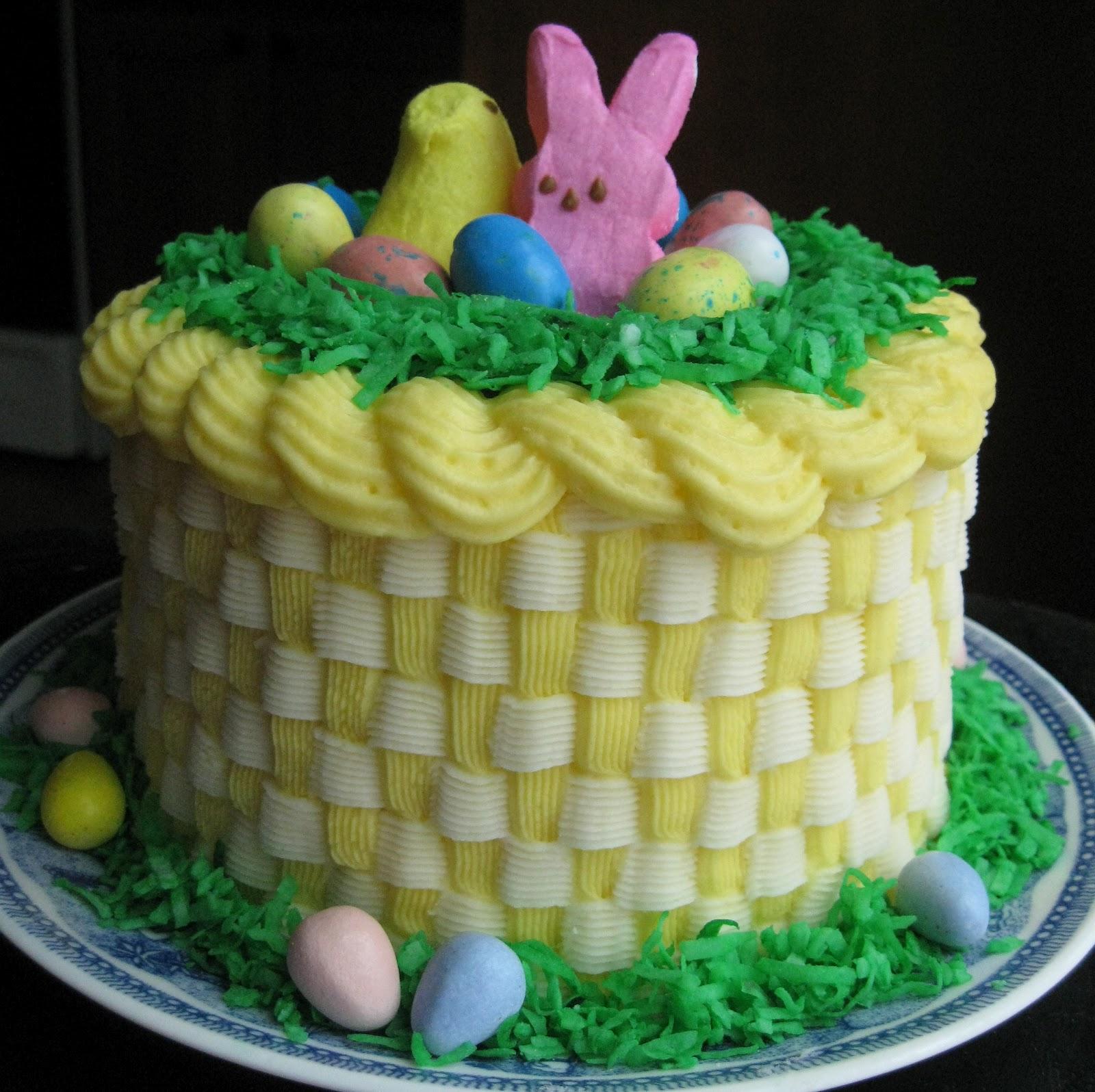 Baking Outside The Box: Easter Basket Cake W/stripes Inside