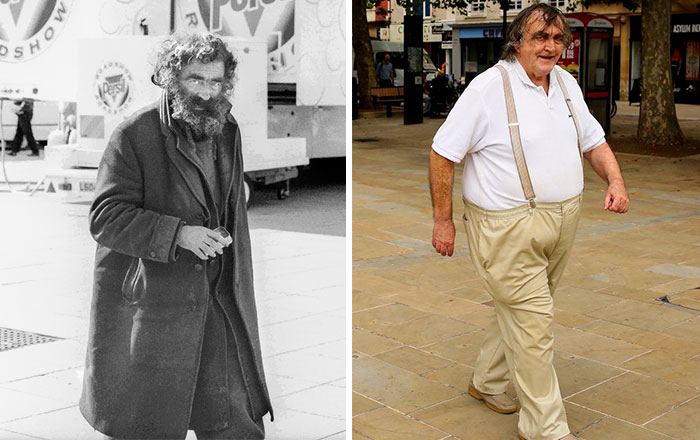 Photographer Recaptures Old Pictures Creating A Beautiful Reunion Of People He Photographed Decades Ago - Nobby (1980 And 2015)