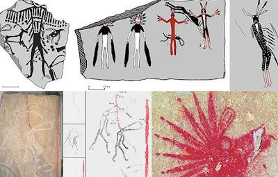 Incredibili opere d'arte sono state trovate sui muri di una tomba di pietra in Siberia
