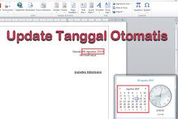 Cara Membuat atau Menambahkan Tanggal Otomatis di Ms Word