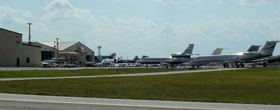 En el aeropuerto de West Palm Beach