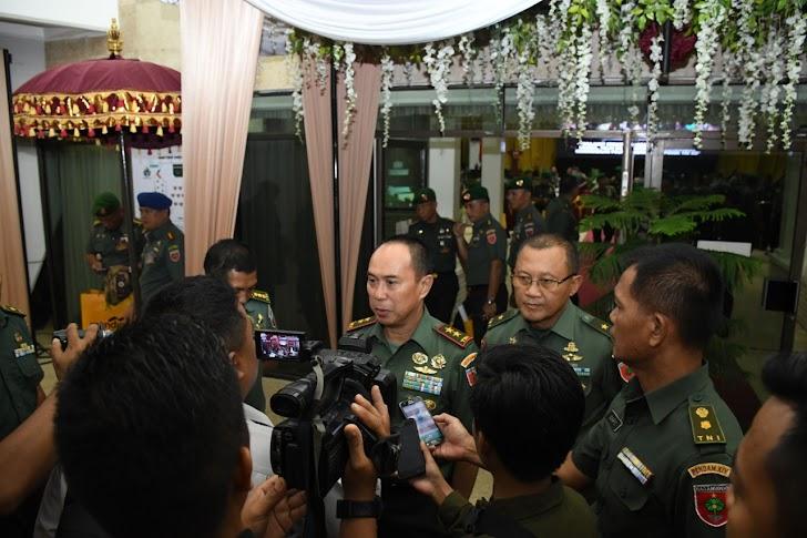 Mayjen TNI Andi Sumangerukka, Memberikan Keterangan Pers Seusai Membuka Rapim Kodam Hasanuddin Tahun 2020