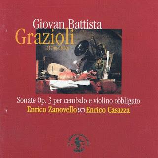Giovan Battista Grazioli: Sonate Op. 3 per cembalo e violino obbligato