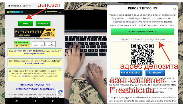 депозит Freebitcoin номер кошелька