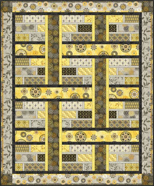 Felicity Quilt Free Pattern designed by Cynthia Coulter for Wilmington Print