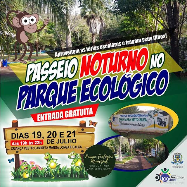 Parque ecológico terá passeio noturno nesta semana