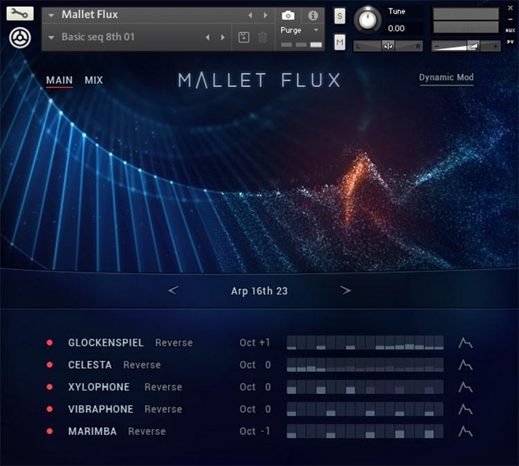 Interface da Library Native Instruments - MALLET FLUX (KONTAKT)