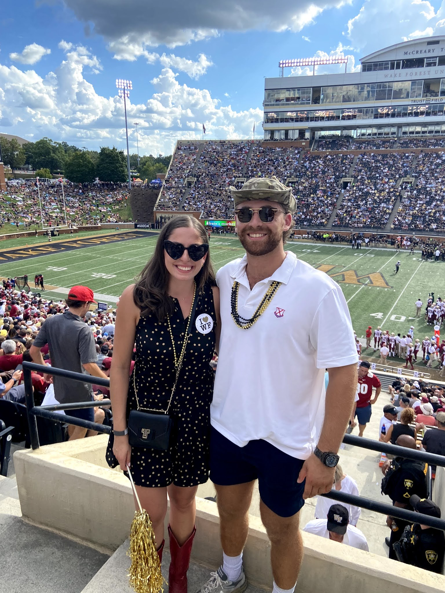 wake football, go deacs, home game, wfu, wake forest, what to wear to a football game