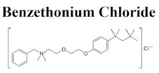 Benzethonium chloride occurs as a white crystalline