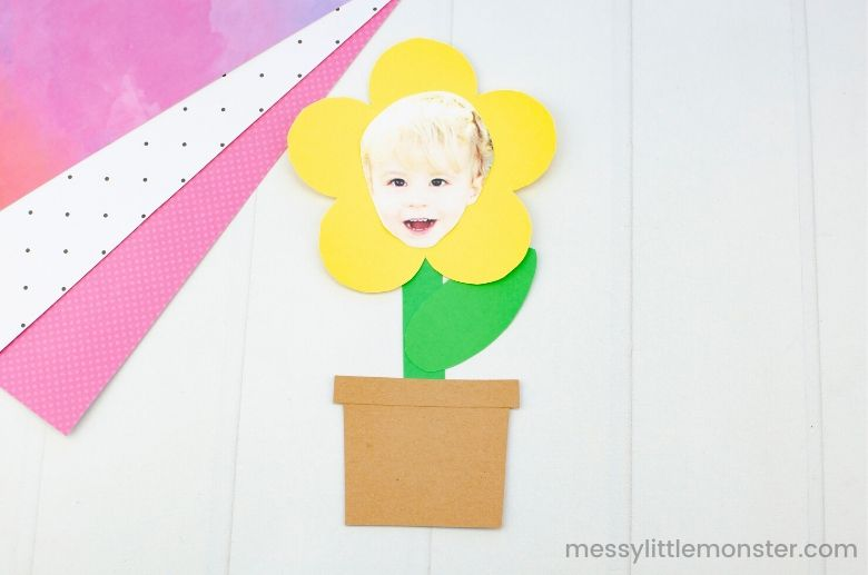 flower craft for preschoolers with flower template