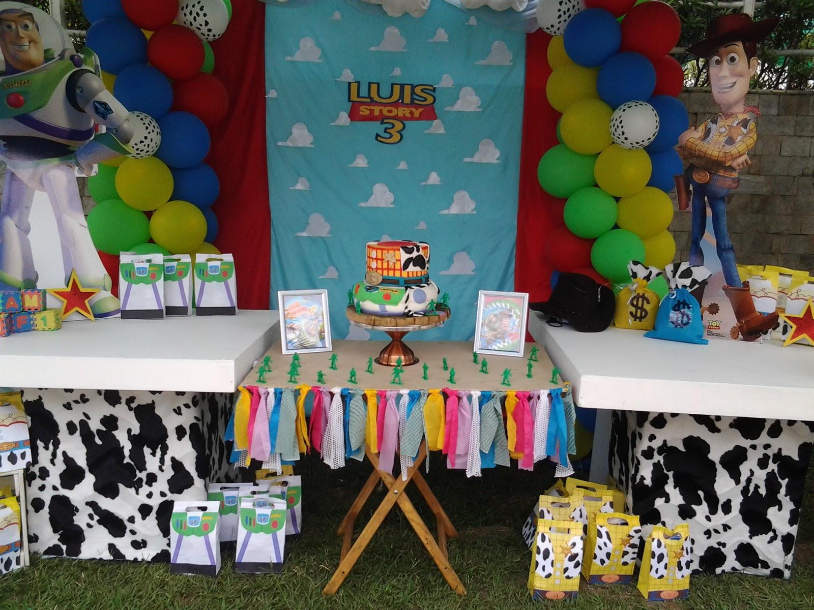 Pkelandia decoraci n tem tica de toy story cumplea os de - Fiesta infantil tematica ...