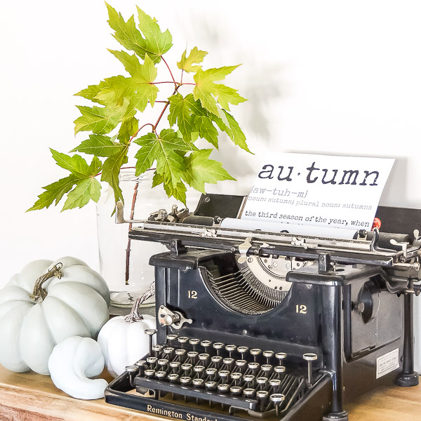 vintage typewriter fall decor