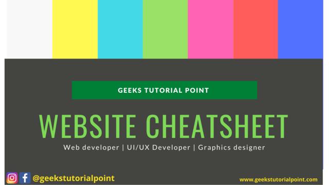 Websites Cheatsheet