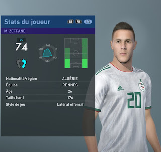 PES 2019 Faces Mehdi Zeffane by TiiToo Facemaker