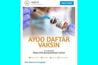 Link Pendaftaran Vaksinasi Covid-19 di Kaltim RSUD AM Parikesit Kukar https://bit.ly/vaksinsietam-daftar