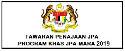 Permohonan Penajaan Jpa Bagi Program Khas Jpa Mara Tahun 2019 Kepada Lepasan Spm 2018 Dibuka Secara Online Mypendidikanmalaysia Com