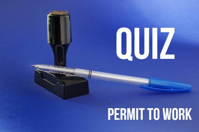 Quiz on Permit to Work System