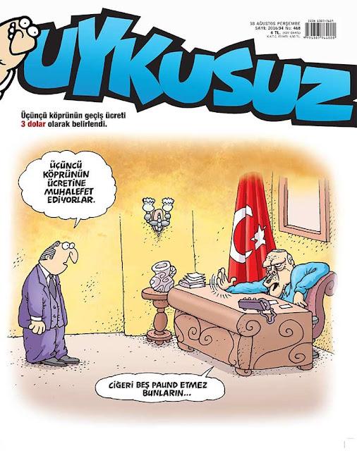 Uykusuz Dergisi - 18 Ağustos 2016 Kapak Karikatürü