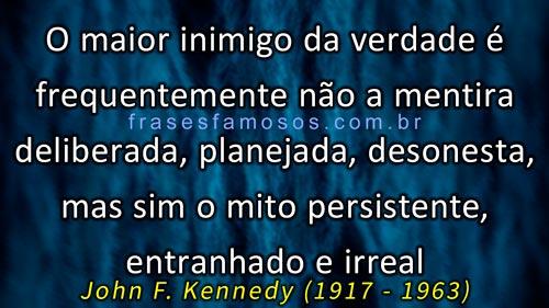 Frases Presidente Kennedy (JFK)
