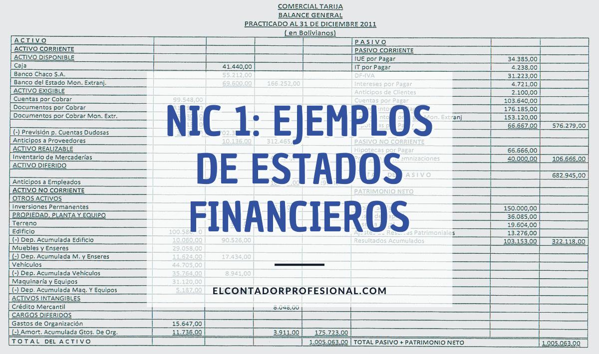 nic 1 ejemplos de estados financieros